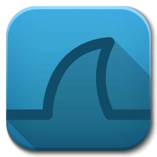 logo Wireshark 2.2.8 (32bit) โปรแกรมจับ Packet sniffer